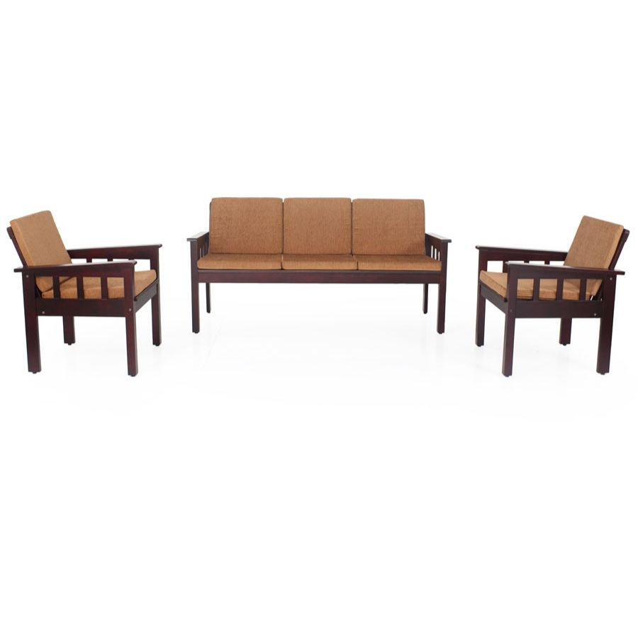 Portland Wooden Sofa Set With Cushion