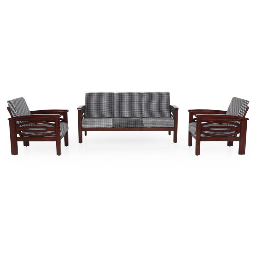 Emerald Wooden Sofa 3 1 1 Set