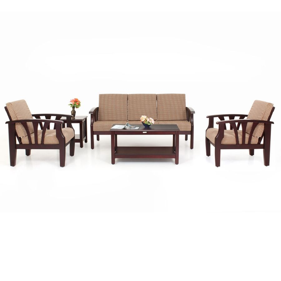 Opal wooden sofa set